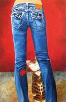 cat-art-Blue Jeans