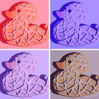 Pop Art Rubber Duckie Cookies