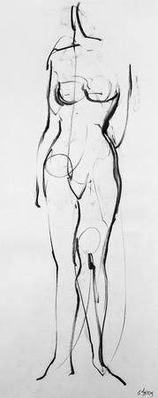 Drawing nude model