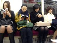 A not unusual Tokyo subway scene
