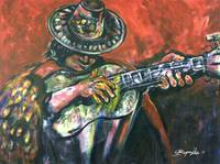 Peruvian Guitar 07 Acrylic on Canvas 36x48