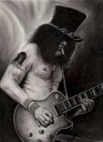Slash portrait in charcoal