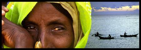 Eyes of the World Ethiopian woman and landscape
