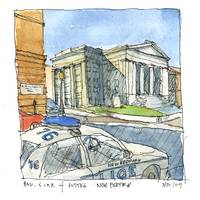 New Bedford Library & Car of Justice