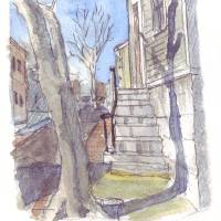 Benefit Street Stair Art Prints & Posters by William L Dennis