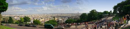 Panorama view of Paris from Sacre Coeur, Montmartr