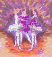 Dancing in a Circle-In Mauve and Peach