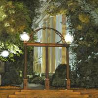 UGA Arch Night Vertical Art Prints & Posters by Tim Beasley