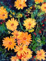 Golden Chrysanthemums by RD Riccoboni