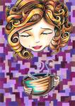 Curls and Coffee Swirls Posters