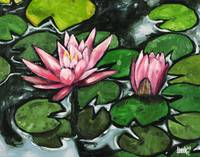 Lily Pads With Pink Flowers