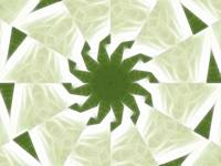 Green White Kaleidoscope Art 1
