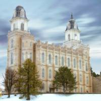"""Manti Temple / Winter"" by TerrySpringer"