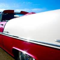 Pink Chevy Bel-Air Art Prints & Posters by Molly Bennett