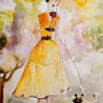 """High Society Vintage Fashion Lady avec Chien"" by GinetteCallaway"