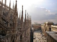 view from Milans Duomo