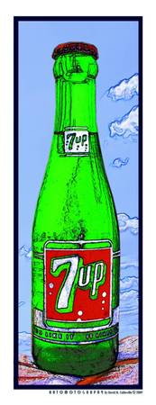 7 Up Bottle in the Sky, White Border