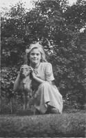 Self probably in France 1948 by Priscilla Turner
