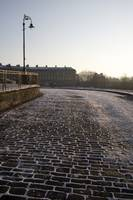 Snow on Cobbles, Royal Crescent, Bath (1D3_1953)
