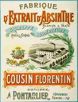Cousin Florentin Advertising Carton