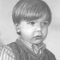 Pencil Portrait Of Young Boy Art Prints & Posters by Mario DiGennaro