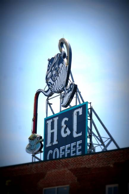H & C Coffee Sign