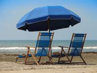 Blue Beach Umbrella (Full)