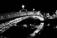 Dublin's Haypenny Bridge over the River Liffey at