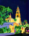 Balboa Park at Night - San Diego Art - California Posters