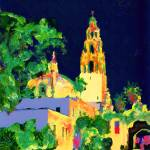"""Balboa Park at Night - San Diego Art - California"" by RDRiccoboni"