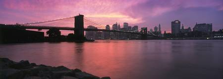 Lower Manhattan Panoramic Sunset