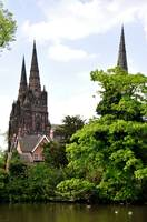 Lichfield Cathedral from Minster Pool  (16907-RDA)
