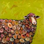Sheep in Citrus Green
