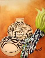 Anasazi Pots and Indian Corn
