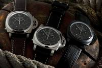 Three Panerai Luminor Chrono Monopulsante wristwat