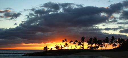 Sunset at Ko Olina, Oahu, Hawaii