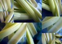 celery in a blue bowl 2