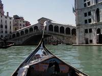 Gondola Approaching Rialto Bridge