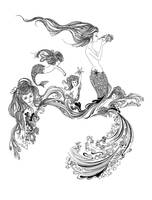 Mermaids In Waves