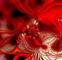 Abstract Art Red Cocoon