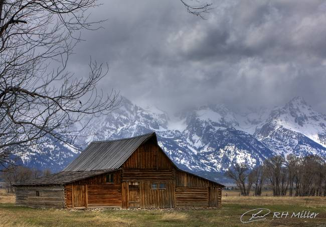 Mormon Row )in Storm Clouds(