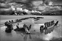 Bran Sands Stormclouds and Wreck