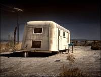trailer and stool, salton city beach