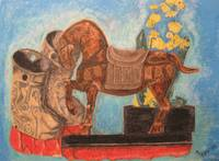 Floating Still Life with Tang Horse
