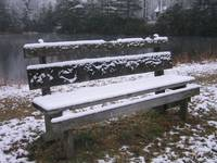 Lover's Bench in the Snow