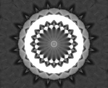 Gray Kaleidoscope Art 31