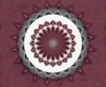 Mauve Kaleidoscope Art 1