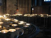 Votive candles in Notre Dame
