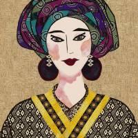 Japanese Girl Series - Chieko Mamba Art Prints & Posters by Kerri Jones
