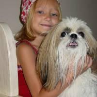 Girl and Dog by Barbara Wilford Gentry